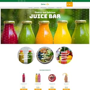 juice and smoothies - Juice Life 3dcart theme 01