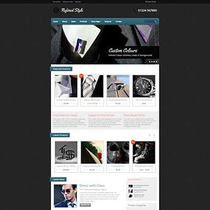 refined style - wordpress jigoshop ecommerce theme 01