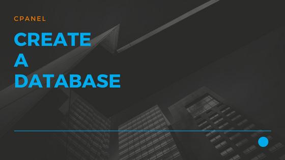 Create a Database 01