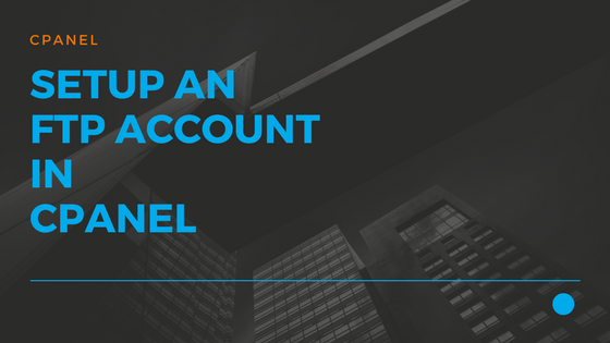 08 How to setup an FTP account