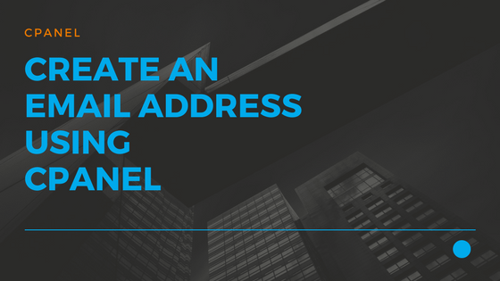 Create an EMail address using cPanel 01