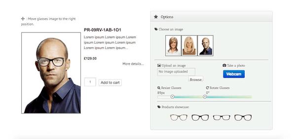 eyewear virtual try-on woocommerce plugin 02