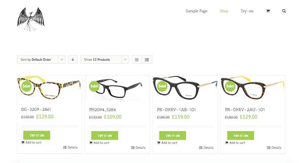 virtual eyewear try-on woocommerce plugin 02