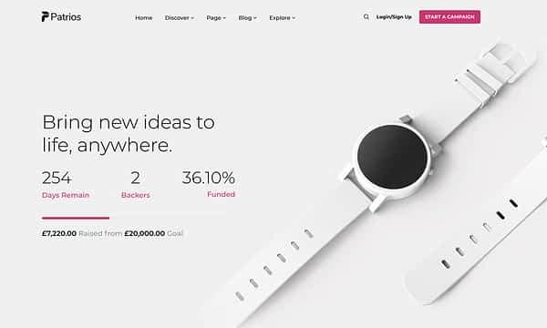 Patrios Wordpress Crowdfunding Theme 14