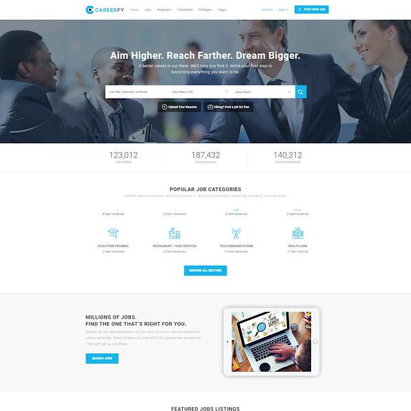 careerfy - job board wordpress theme 01