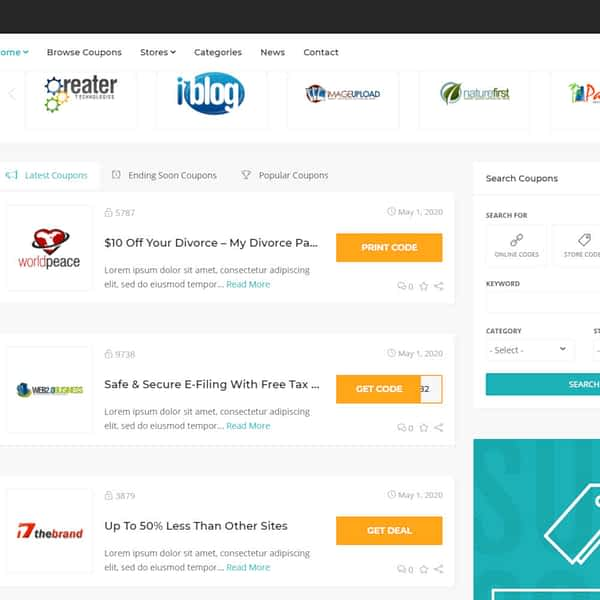 coupons and deals wordpress theme 02