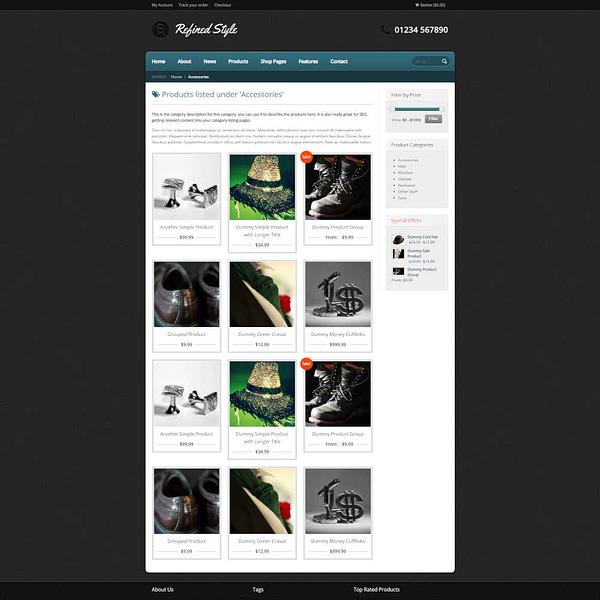 refined style - wordpress jigoshop ecommerce theme 02
