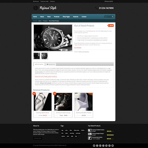 refined style - wordpress jigoshop ecommerce theme 03