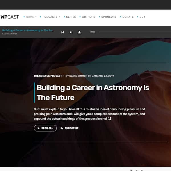 wpcast - audio podcast wordpress theme 01