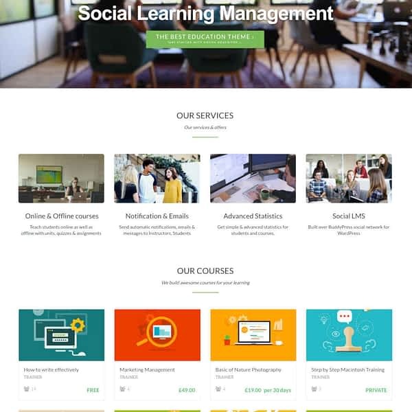 wplms learning management system 02