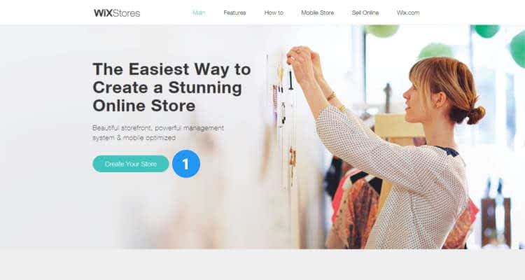 How to start a Wix online store 01