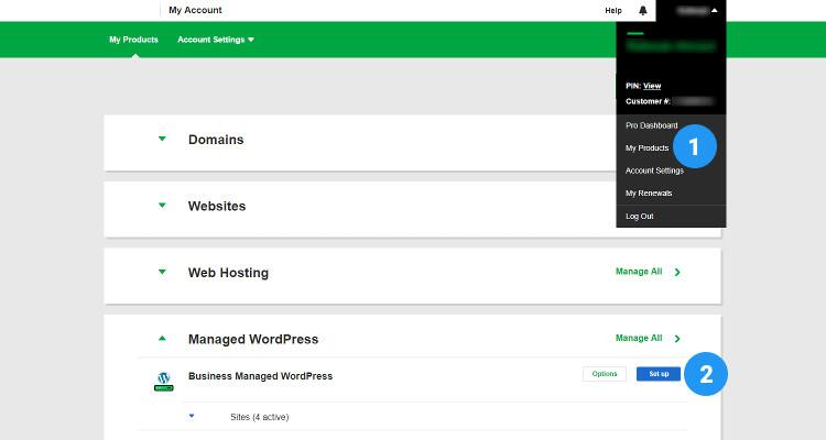 Setup Manage WordPress Hosting 01