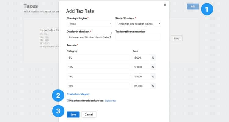 How to configure Sales Tax 02