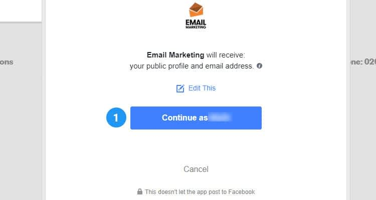 Add newsletter signup form to Facebook page 04