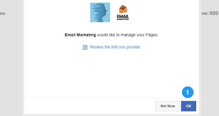 Add newsletter signup form to Facebook page 05
