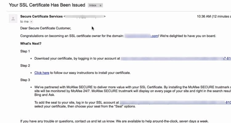 06 SSL Certificate Issued