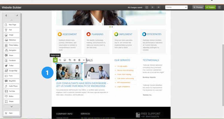 11 build website using website builder