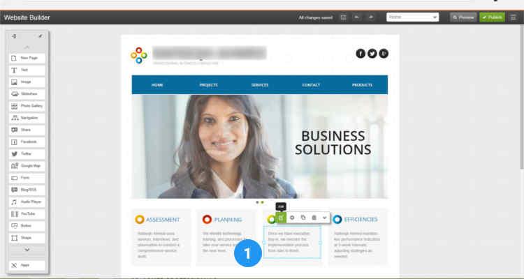 12 build website using website builder