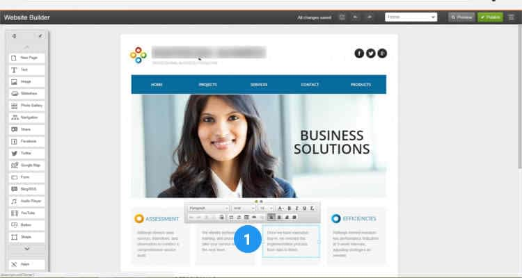 13 build website using website builder