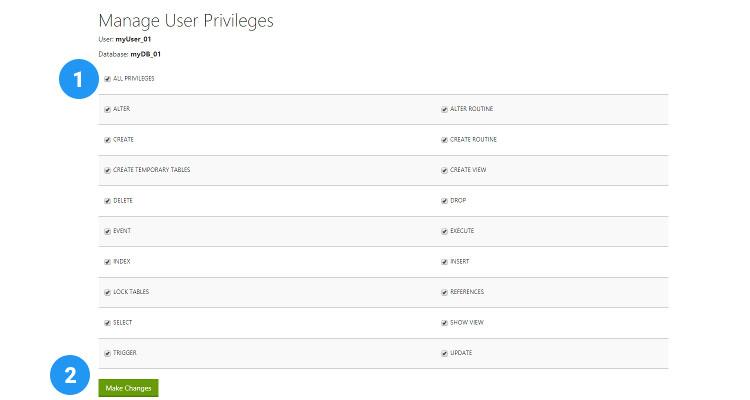 07 MySQL database, User and assign privileges