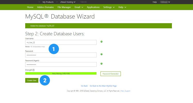 10 MySQL database, User and assign privileges