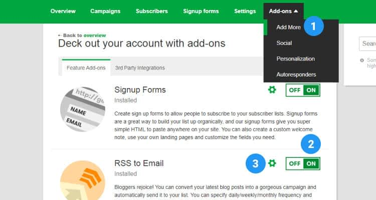 Email Marketing Create an eMail Campaign RSS Feed 02