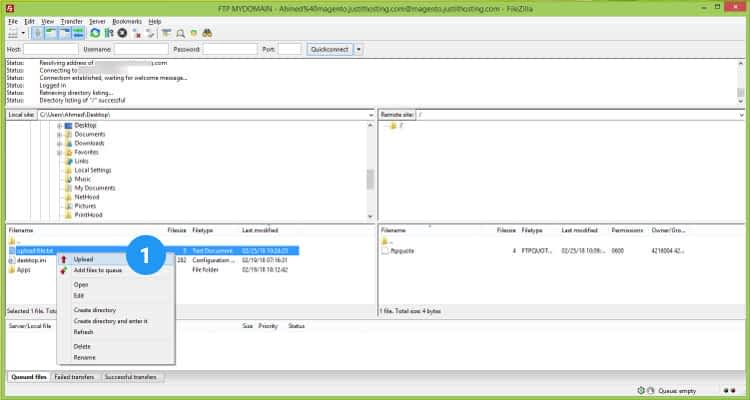 04 FTP Filezilla Client