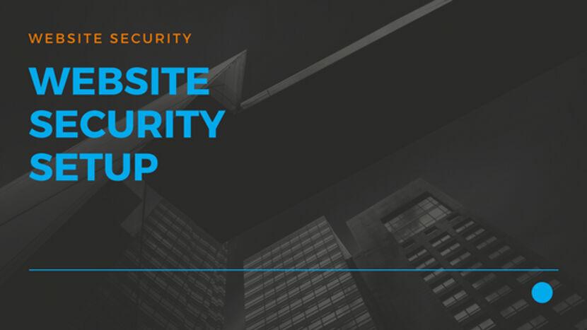 Website Security Setup 01
