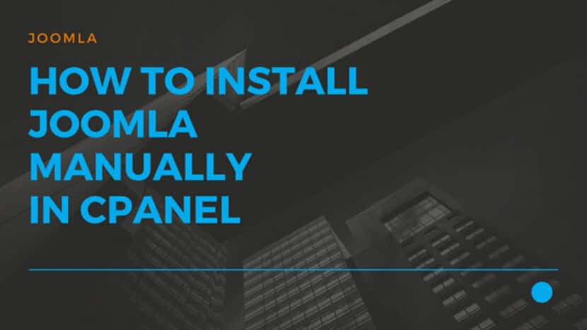 How to Install Joomla manually in Cpanel