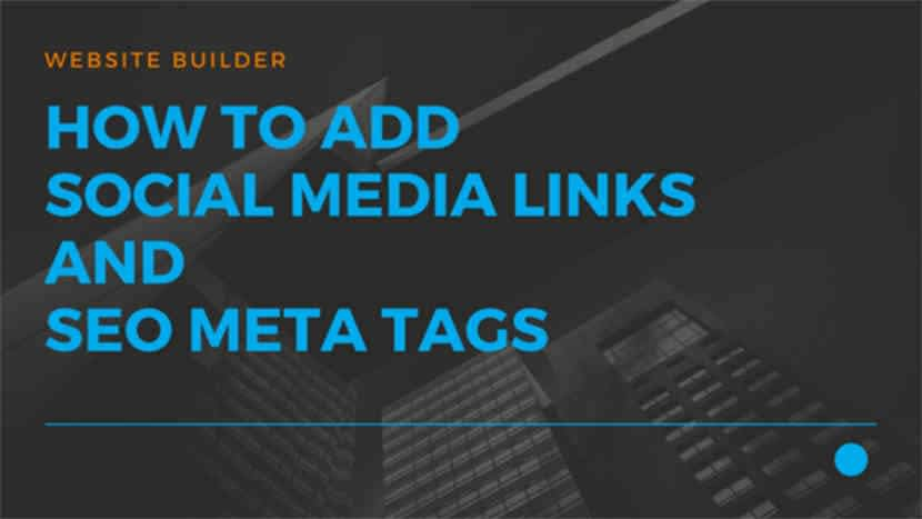 How to add social media links and seo meta tags