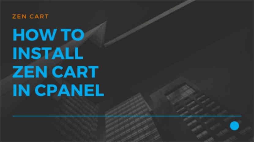 35 How to install Zen Cart in cPanel
