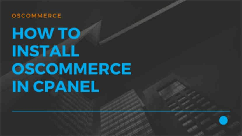 36 How to install osCommerce in cPanel
