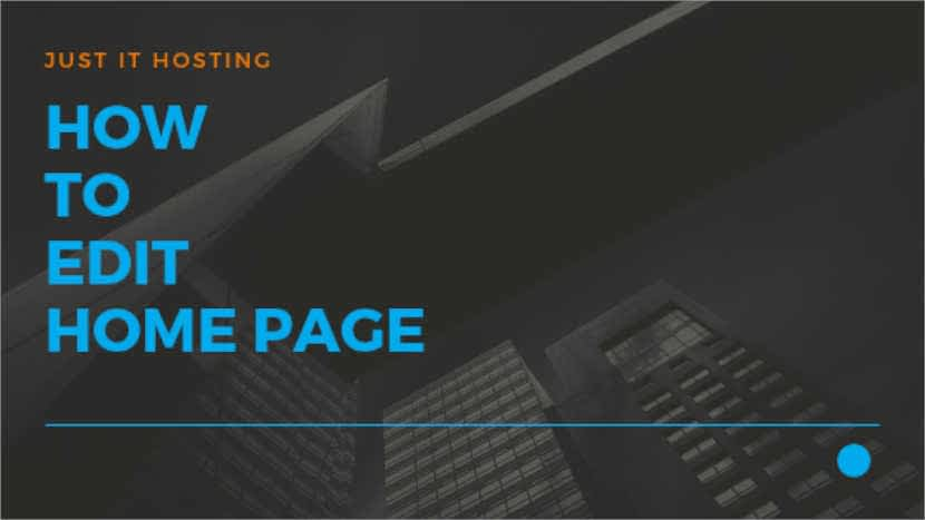 How to edit Home page
